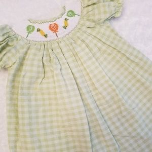 Other - 🍡Smock candy green & white checkered dress🍡